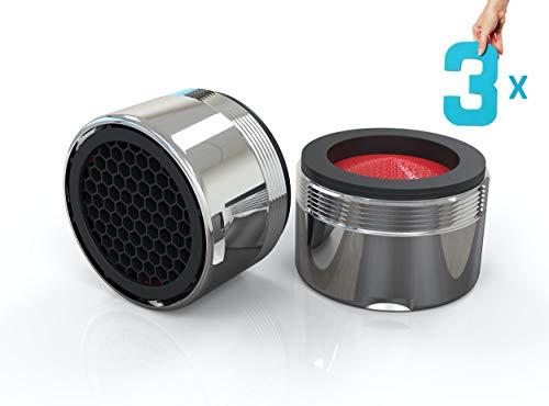 3x Sparstrahlregler für Wasserhähne ✓ Wasser sparen mit M24x1 Strahlregler ✓ Innovativer Strahlregler von JQD ✓ Premium Sparstrahlregler mit ABS-Filter ✓ 4,5L/min