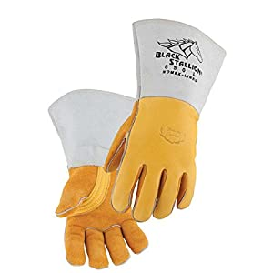 Revco 850L Flame Resistant Nomex Lined Elkskin Stick Welding Gloves L by Black Stallion