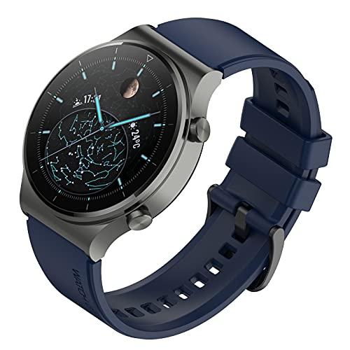 FunBand Correa Compatible con Huawei Watch GT2 Pro, Correa de Pulsera de Silicona Bandas Correa de Repuesto de 22 mm para Huawei Watch GT2 Pro/Watch GT2 46mm/Huawei Watch 3/Huawei Watch 3 Pro