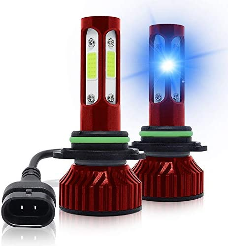 AUTOFACE HB4 9006 LED Headlight Bulbs Iced Blue LED Headlights LED Fog Lights Bulb 8000K 60W product image