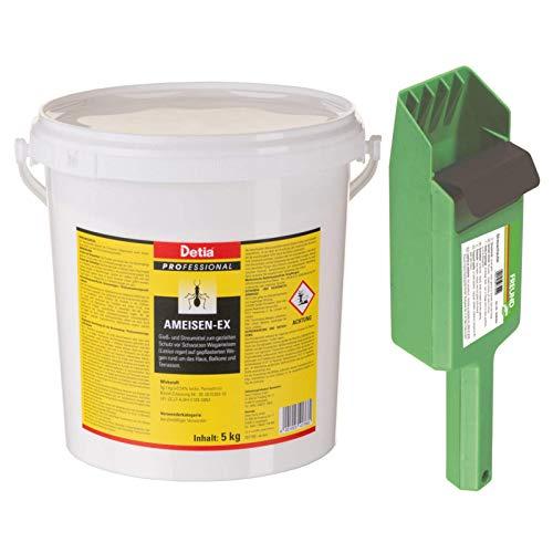 Detia Ameisen-Ex Ameisenmittel 5kg - inklusive Streuschaufel - Schnell wirkendes Streu- und Gießmittel
