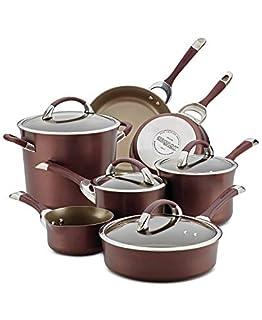 Circulon Symmetry Hard Anodized Nonstick Cookware Pots and Pans Set, 11 Piece, Merlot (B07NKLRTL1) | Amazon price tracker / tracking, Amazon price history charts, Amazon price watches, Amazon price drop alerts