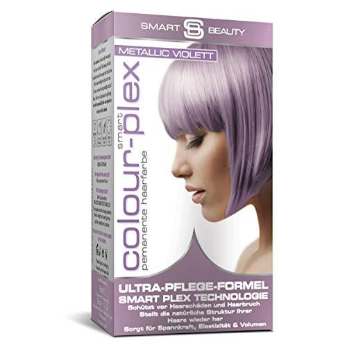 Metallic Violett demi-permanentes Haarfärbemittel   Professionelle Haarfarbe in Salonqualität   100% vegane Formulierung ohne Tierversuche   Mit Smart Plex Technologie gegen Haarbruch   Smart Beauty