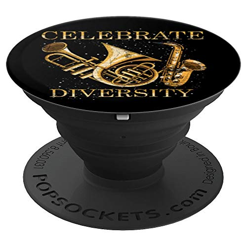 Celebrate Diversity Trumpet PopSockets Grip and Stand for Phones and Tablets
