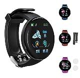 """MAWOLY Smartwatch Orologio Impermeabile Intelligente 1.44"""",Cardiofrequenzimetro Monitoraggio del Sonno Gestione dello Stress iOS e Android,Uomo,Donna(Nero)"""