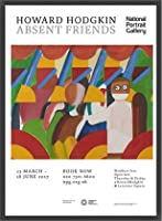 ポスター ハワード ホジキン Absent Friends The Tilsons Exhibition 額装品 ウッドベーシックフレーム(ブラック)
