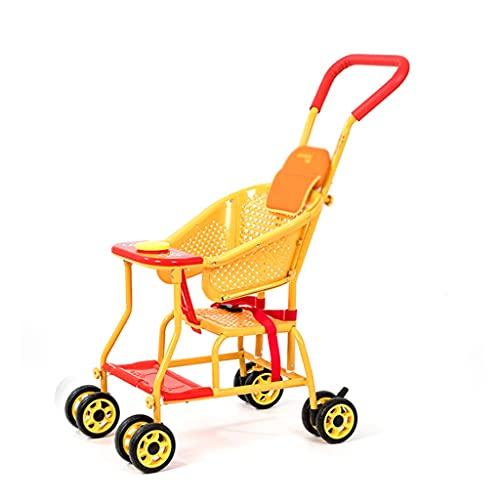 QIFFIY Passeggino Estate Estate e Rattan passeggini Rattan Sedia in Vimini Leggera Baby Sitting Rattan Poltrona in Rattan Auto Infantile (Color : A)