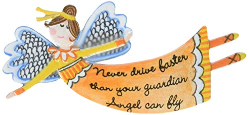 Cathedral Art Never Drive Faster Than Your Guardian Angel Can Fly Visor Clip