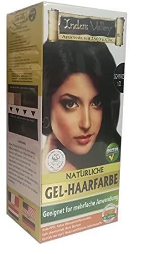 IndoNatura Indus Valley Gel-Haarfarbe Schwarz (90% natürlich)