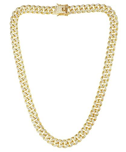 喜平 ネックレス メンズ SBG ブランド CZ チェーンネックレス キューバン ゴールド 60cm