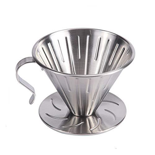 sypen Kaffeefilter Edelstahl, V60 Kaffeefilter Größe 2 Für 2-4 Tassen, Dauerfilter für Kaffeefilterpapier, Handfilter