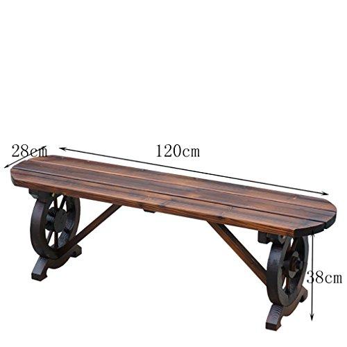 Balai en bois massif étagère à fleurs salon intérieur bancs simples échafaudage conservateur carbonisé banc de bois en plein air (taille : 120 * 28 * 38cm)