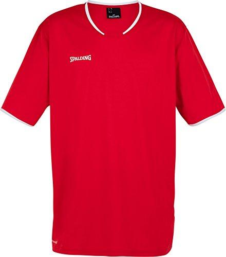 Spalding Mens 300214104_140 T-Shirt, red,White