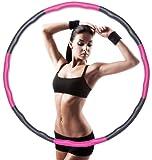 Hkiytime Aro de hula hoop, para adultos y niños, reducción de peso y masaje, 8 segmentos, extraíble, adecuado para fitness, formación, moldeo abdominal, masaje (0,8 kg)
