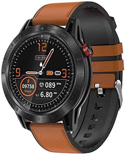 Reloj inteligente 1.3 pulgadas pantalla táctil completa fitness tracker IP68 impermeable bluetooth pulsera con podómetro monitor de sueño reloj inteligente-F