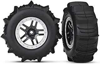 Traxxas 5891 SCT Wheels SS Black Satin Paddle Tires