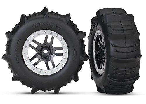 Traxxas 5891 SCT Wheels SS Black Satin Paddle Tires