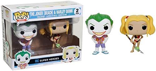 Funko-DC-2 Pack-Beach Joker & Harley Set Figurinas de Vinilo, Multicolor 14238