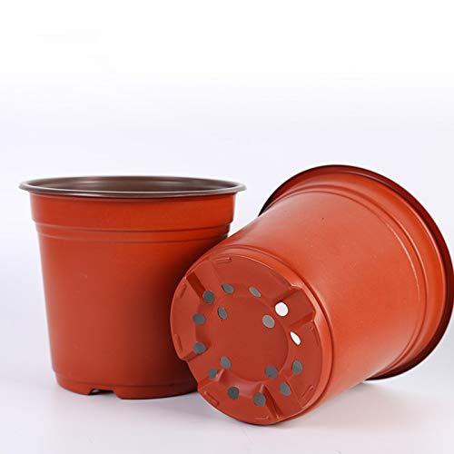 æ— 24 paquetes de macetas flexibles de 20 cm, macetas de plástico para guardería, ideal para plantas de interior y exterior, plántulas, verduras, suculentas y esquejes