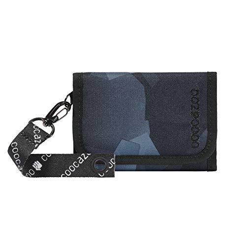 """coocazoo Geldbeutel AnyPenny """"Grey Rocks"""", grau, Portemonnaie mit Sichtfenster innen & außen, Münzfach, viele Kartenfächer, Klettverschluss, für Jungen"""