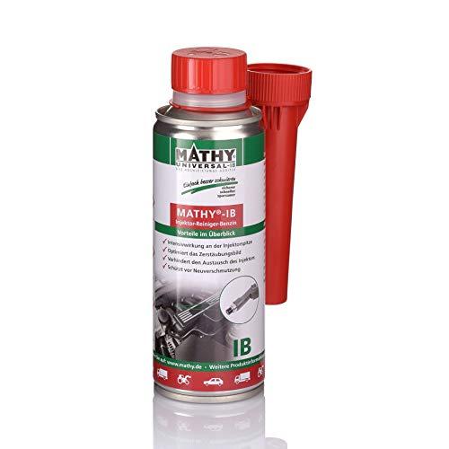 MATHY-IB Benzin Injektor Reiniger - Benzin Additiv zum Reinigen der Einspritzdüsen - Injektorpflege - Kraftstoffzusatz Benzin Motoren - Einfache Anwendung über den Tank - Kraftstoffadditiv - 200 ml