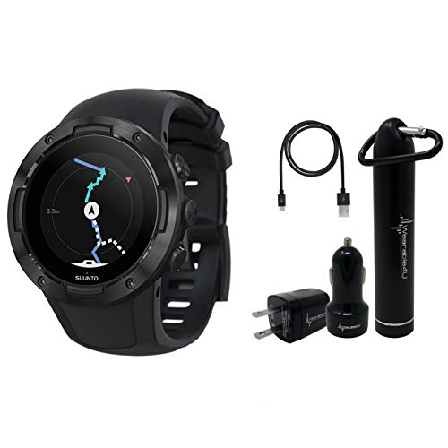Review Suunto 5 Multisport Watch G1 with Included Wearable4U Power Pack (All Black)