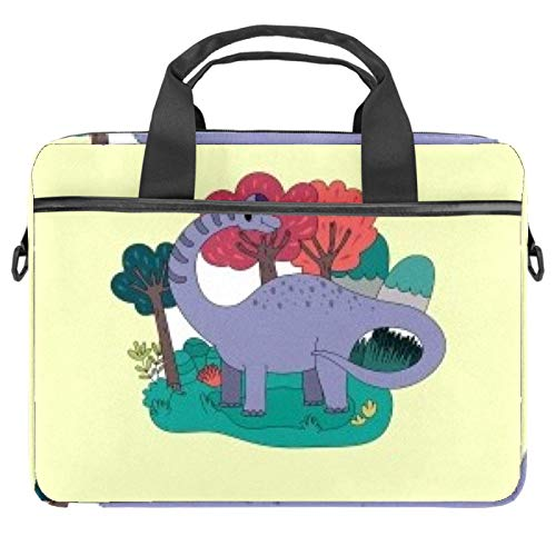 Laptop Bag Long Tail Dinosaur Notebook Sleeve with Handle 13.4-14.5 inches Carrying Shoulder Bag Briefcase