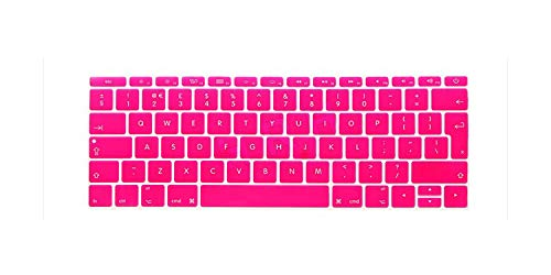 for New MacBook Mac Pro 13' A1708 Non Touch Bar (2016 2017 Version, No Touch Bar) Euro EU Layout English Keyboard Cover Skin-Rose-