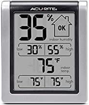 AcuRite 00613 Digital Hygrometer & Indoor Thermometer Pre-Calibrated Humidity Gauge, 3
