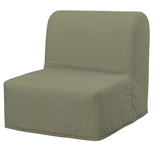 Soferia Funda de Repuesto para IKEA LYCKSELE Cubresillón Cama, Tela Elegance Taupe, Beige