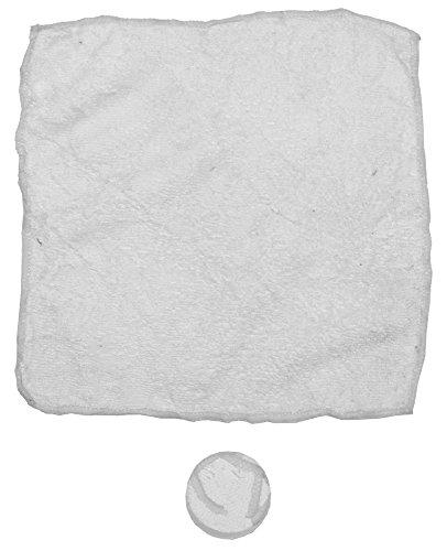 Foulard magique, blanc microfibre, 5pcs/polysac