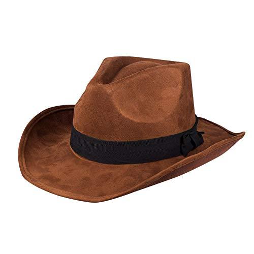 Boland 04089–Chapeau de Cowboy Adventure pour Adulte, Taille Unique, Marron