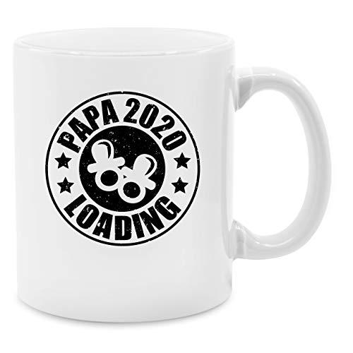 Vatertagsgeschenk Tasse - Papa 2020 loading mit Schnullern - schwarz - Unisize - Weiß - tasse papa 2020 - Q9061 - Kaffee-Tasse inkl. Geschenk-Verpackung