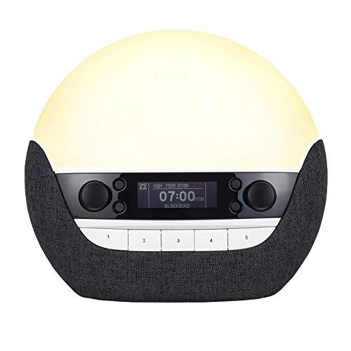 Lumie Bodyclock Luxe 750DAB - Lichtwecker, DAB-Radio, Bluetooth Lautsprecher & Wenig Blaulicht für Schlafenszeit