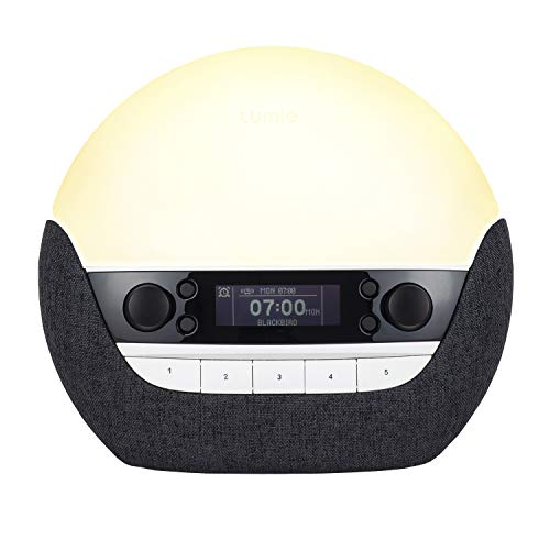 Lumie Bodyclock Luxe 750Dab - lichtwekker met DAB-radio, bluetooth luidspreker & weinig blauw licht voor slaap