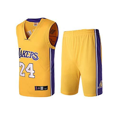 No. 24 maglia, Kobe Bryant, Los Angeles Lakers, Kobe Bryant24#, maglia da basket, completo senza maniche classico, ventilatori S-XXXL unisex-yellow-M