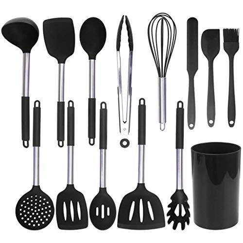 Marginf Lot de 14 ustensiles de cuisine anti-adhésifs en silicone résistant à la chaleur