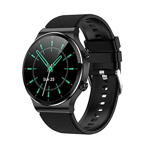 ZGLXZ Smart Watch 1.28 Pulgadas Pantalla Redonda Llamada Bluetooth 4GB Memoria Música IP67 A Prueba De Agua Reloj De Espera A Prueba De Agua Corazón Adecuado para Android iOS,E