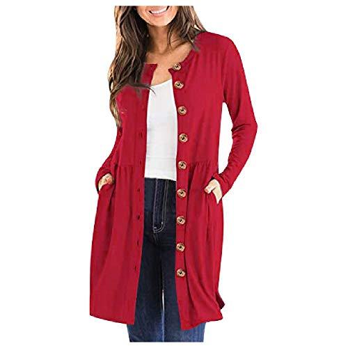 Gabardina de las mujeres de un solo pecho bolsillos señora casual rompevientos otoño invierno otoño