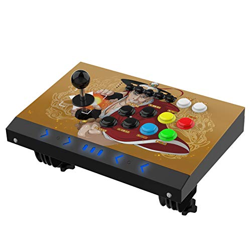 DOYO Arcade Joystick Machine Video Game Arcade Fight Stick for Home, Compatible with NEOGEO Mini/PC/PS Classic/Nintendo Switch/PS3/Android/Raspberry Pi (Red)