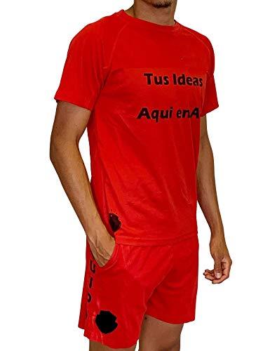 YISAMA Abliggiamento Sportivo Uomo Personalizzato, Tshirt Short.