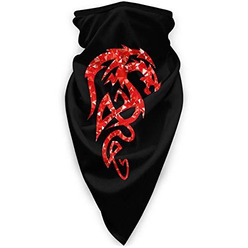 Liuqy Bandeau Banbana, Tribal Drake Dragon Multifonctionnel Magique Moto Chapeaux Demi Face Voile Cou Couverture