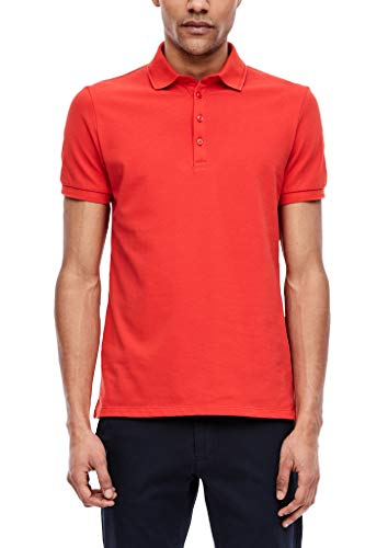 s.Oliver BLACK LABEL Herren Poloshirt in Unicolor red XXL