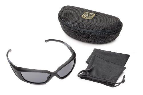 Revision Military Hellfly Polarized Sunglasses 4-0491-0024 Hellfly Polarized Sunglasses Black Frame with Polarized Lenses, Polarized