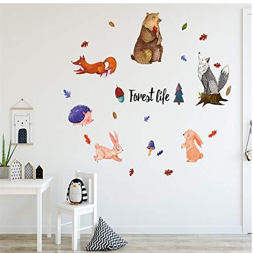 Annqing dierpatroon met diermotieven, verwijderbaar, met raamdecoratie, voor kinderkamer