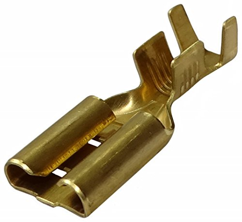 Aerzetix: 100 x Kabelschuhe Kabelschuh ( Klemme ) weiblich, flach 9.5mm 1.2mm 3-6mm2
