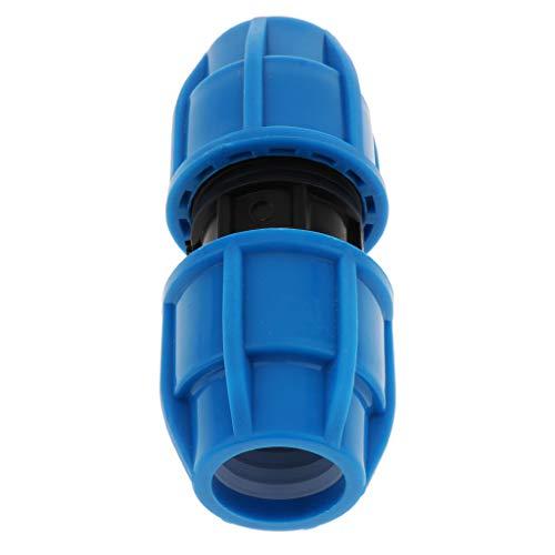 perfk Connecteur Tuyau Double Accoupleur Raccord d'Arrosage Rapides Pour Tuyau - 25mm