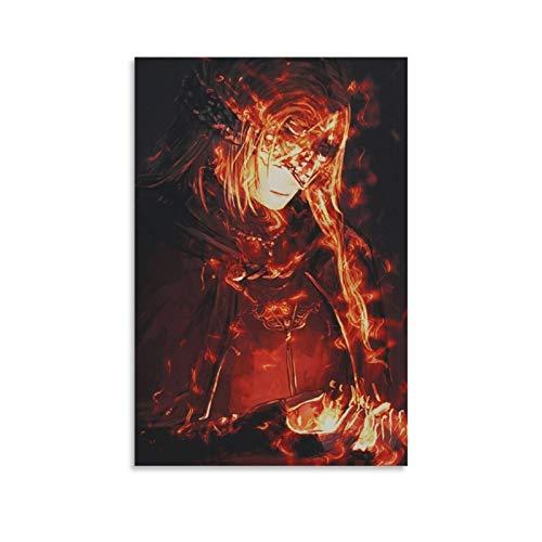 qijian DarkSouls Anime-Poster auf Leinwand, Motiv Fire Keeper und Wandkunst, modernes Familienschlafzimmer, 20 x 30 cm