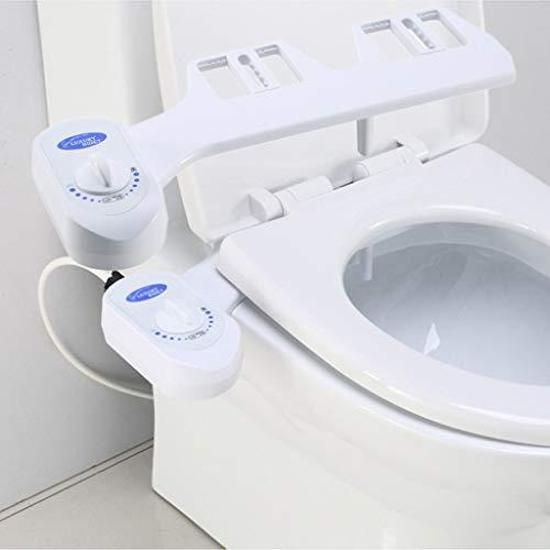 Bidet Toilet Seat Attachment Aufsatz - Dusch WC Aufsatz Toilettensitz Intimpflege für Bidet Wasser Nicht-Elektrisch Bidet Toilettenaufsatz Einstellbarer Druckschalter -2Modi