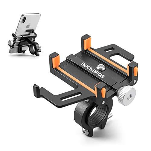 ROCKBROS(ロックブロス)スマホホルダー 自転車 携帯ホルダー アルミ オートバイ バイク 360度回転可能 防振 脱落防止 脱着簡単 携帯固定 取付け簡単 iPhone androidに多機種対応